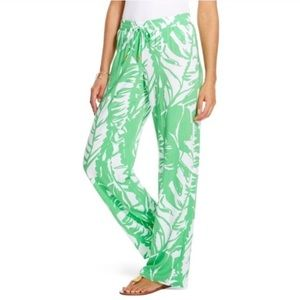 Lilly Pulitzer Palm Palazzo Pants Lightweight